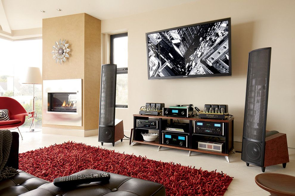 Eleganza Tile for a Modern Family Room with a Modern and Family Rooms by Magnolia Design Center