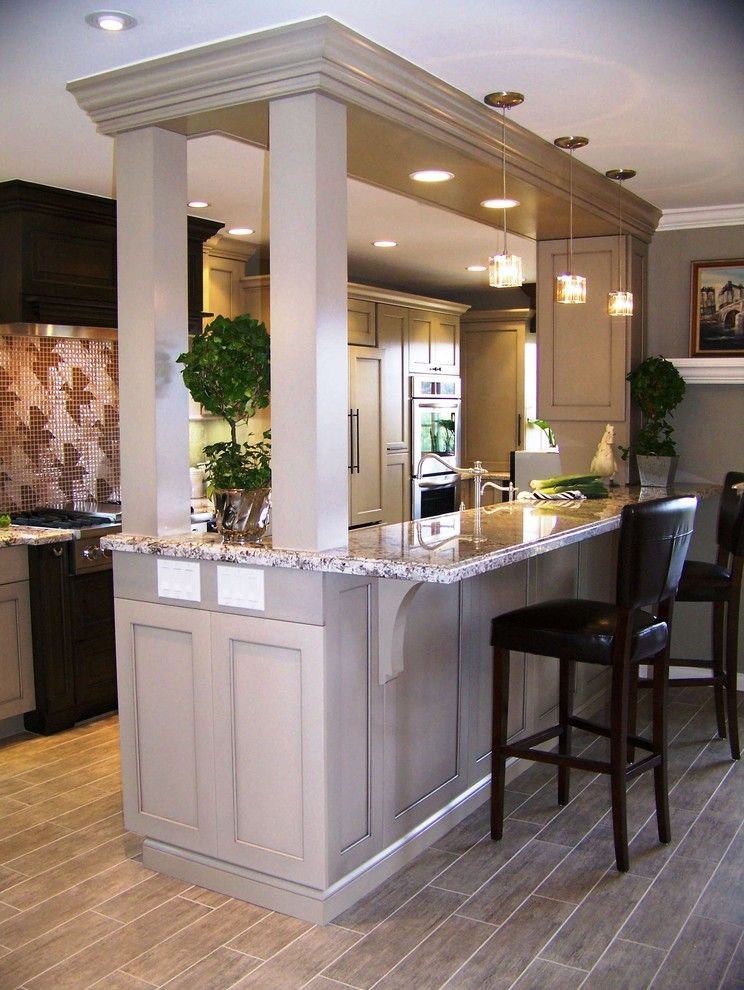Eleganza Tile for a Transitional Kitchen with a Tile Flooring and Heather Moe by Design Moe Kitchen & Bath / Heather Moe Designer