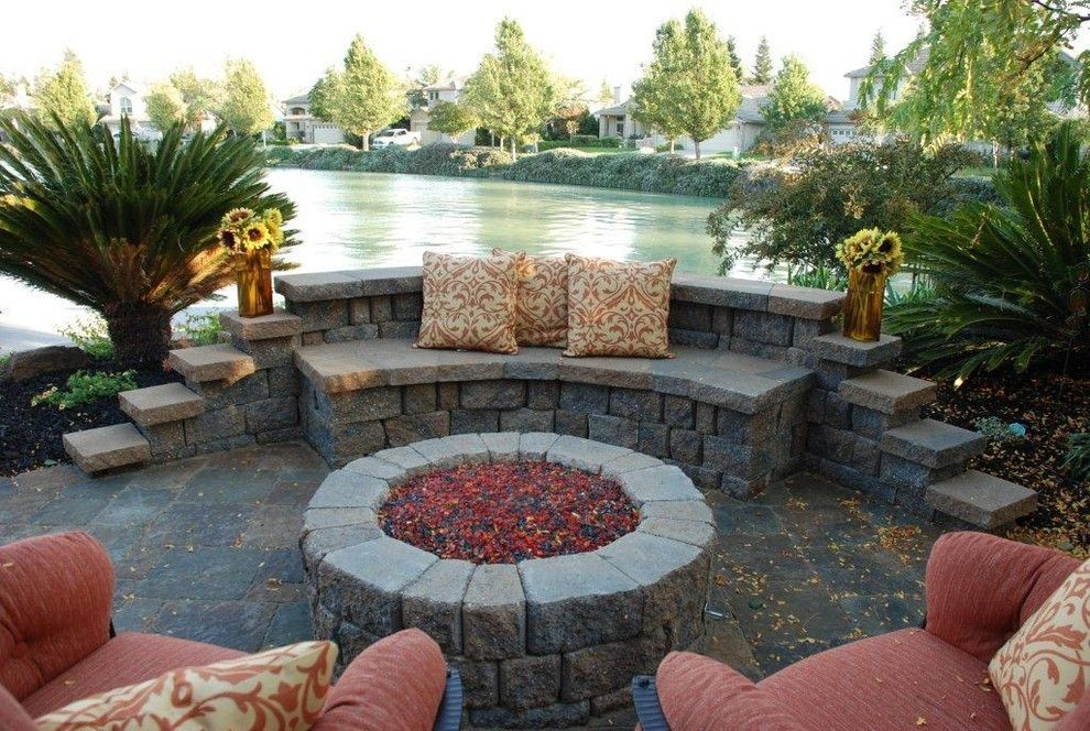 Elk Grove Theater for a Contemporary Patio with a Sunflowers and Elk Grove California Pavers for Patio and Pool Area by Bill Bailey