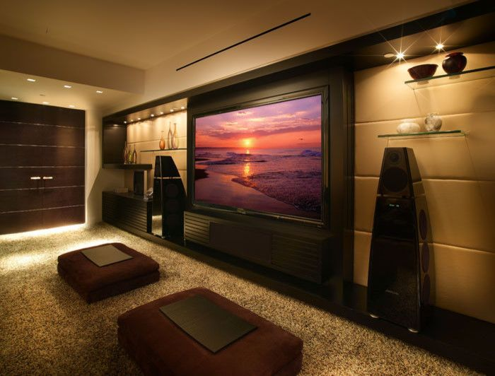 Elk Grove Theater for a Modern Home Theater with a Brickell and Miami Beach   Apartment by Pepecalderindesign   Miami Interior Designers  Modern by Pepe Calderin Design  Modern Interior Design