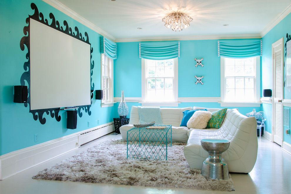 Elk River Theater for a Contemporary Kids with a Glamorous Megdia Room and South Beach Teen Room by Kathy Corbet Interiors