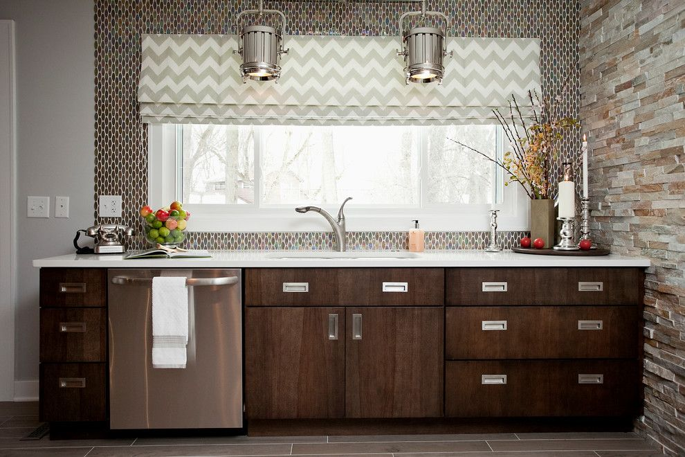 Elk River Theater for a Contemporary Kitchen with a Transitional Kitchen and Whole House Remodel by River Oak Cabinetry & Design
