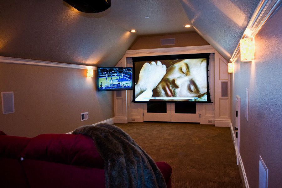 Elk River Theater for a  Home Theater with a  and Cook Theater by Hans Scheels
