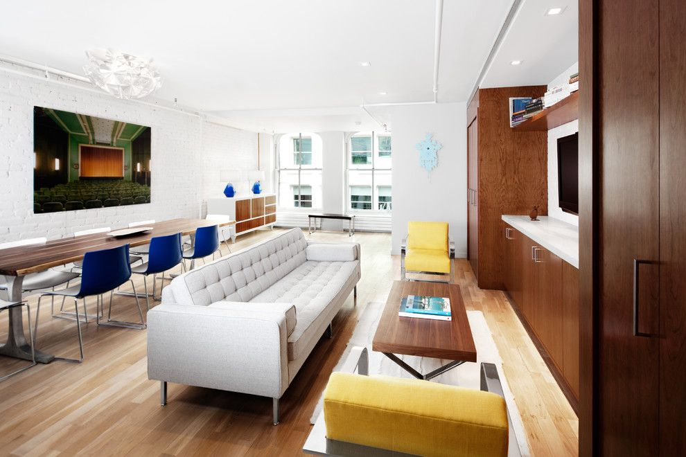 Elk River Theater for a Modern Living Room with a Blue Accents and Mercer Street Residence by Alexander Butler | Design Services, Llc