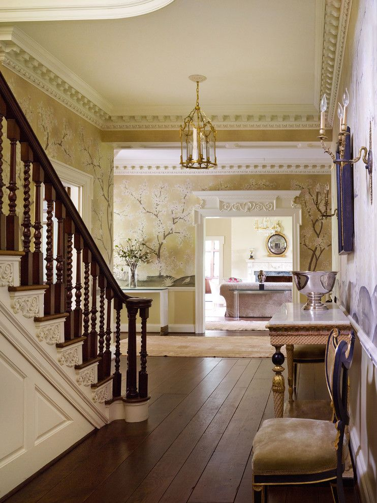 Ellsworth Ford for a Traditional Hall with a Entry and Entries and Hallways by Ellsworth Ford Associates