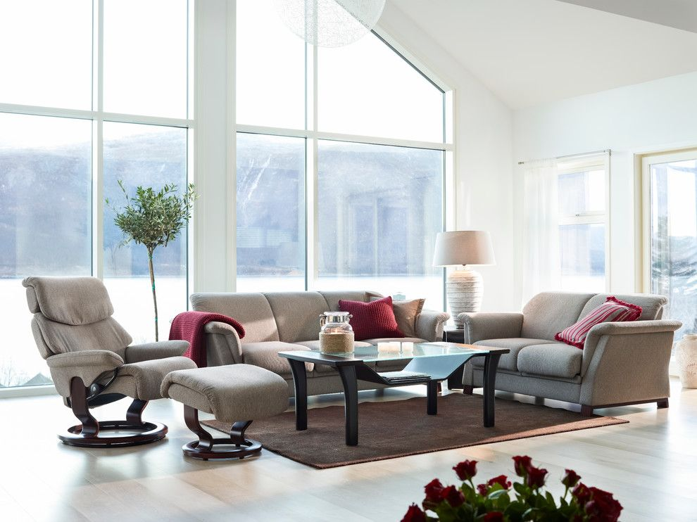 Eloquence Furniture for a Contemporary Living Room with a Modern Living Room and Stressless by Ekornes   Chairs, Recliners & Sofas Imported From Norway by Ergo Beds