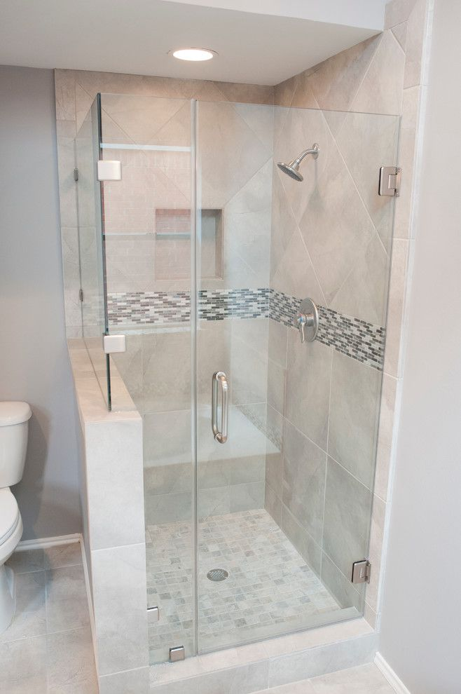 Emser Tile for a Transitional Bathroom with a Master Bath and Southmeadow Renovation by Curtis Lawson Homes