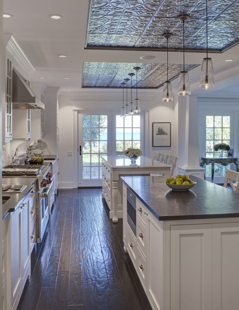 Engineered Hardwood vs Laminate for a Traditional Kitchen with a Wood Molding and Evanston Project by Jane Kelly, Kitchen and Bath Designer
