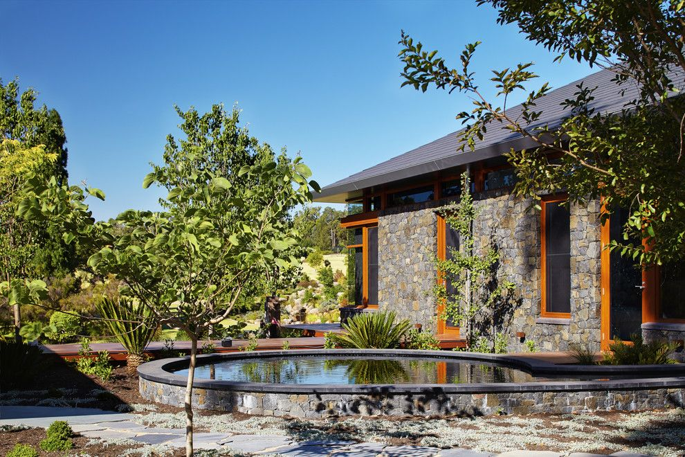 Environmental Stoneworks for a Asian Landscape with a Asian and Bedfordale House by Suzanne Hunt Architect