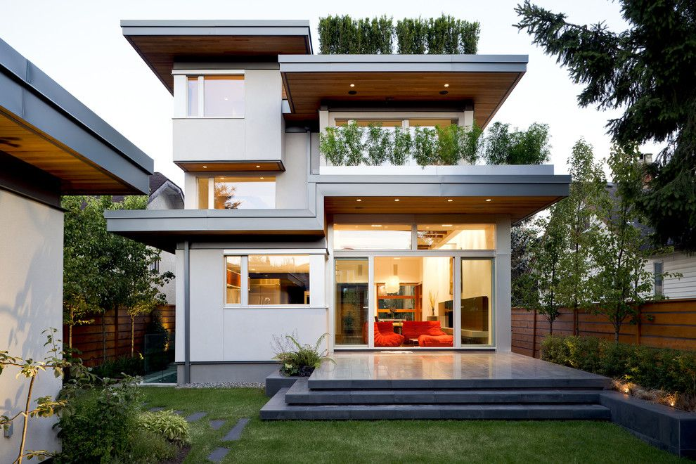 Eplans for a Contemporary Exterior with a Wood Fencing and Modern Exterior by Nbhb.ca