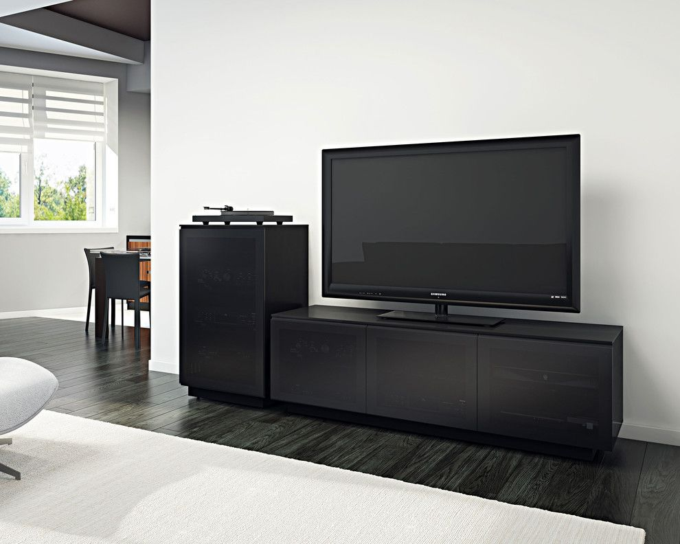 Eplans for a Contemporary Living Room with a Dark Wood Flooring and Bdi Furniture by Bdi Furniture