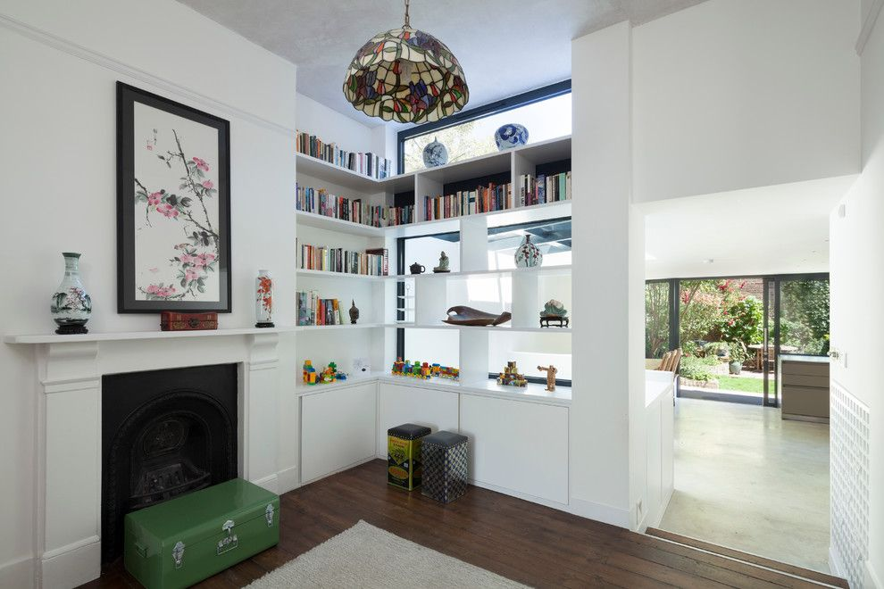 Eplans for a Eclectic Living Room with a Design and Stoke Newington N16 by Scenario Architecture