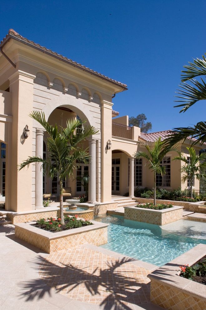 Eplans for a Mediterranean Pool with a Home Plans and Sater Group's