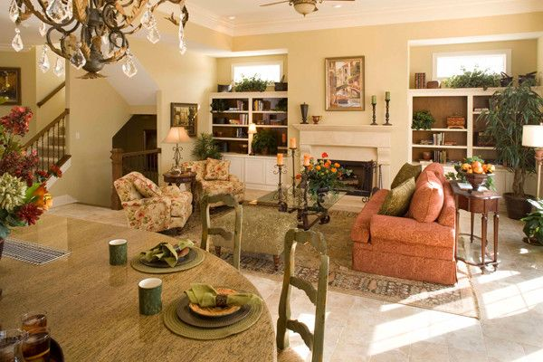 Estridge Homes for a Traditional Living Room with a Traditional and Interiors by Estridge Homes
