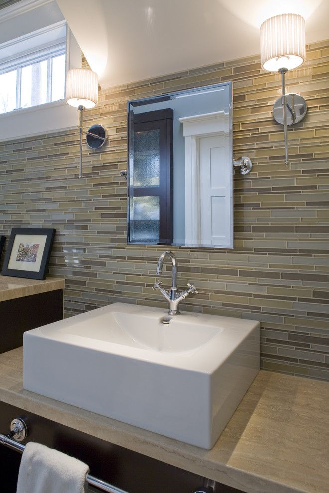 Eureka Lighting for a Contemporary Bathroom with a Sconce and Master Bath by H&h Design