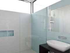 Eureka Lighting for a Modern Bathroom with a Spa and Southampton by C O N T E N T Architecture