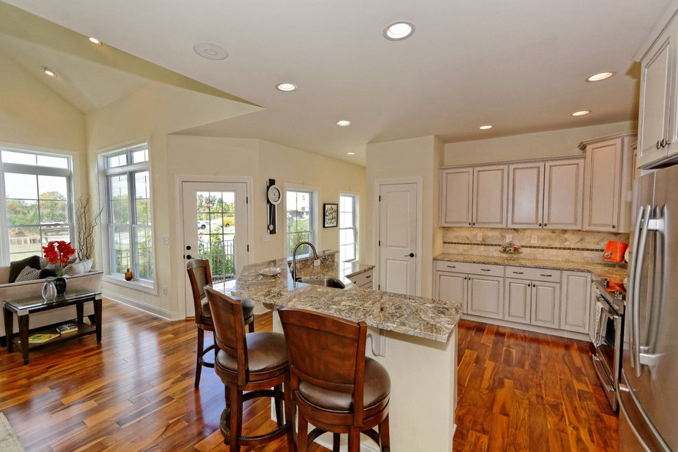 Evergreene Homes for a Traditional Kitchen with a Colonial Townhomes and Village at Shaker Creek by Viscusi Builders Ltd.