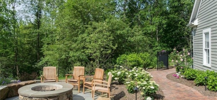 Exscape for a Traditional Patio with a Firepit and Chagrin Falls Patio by Exscape Designs