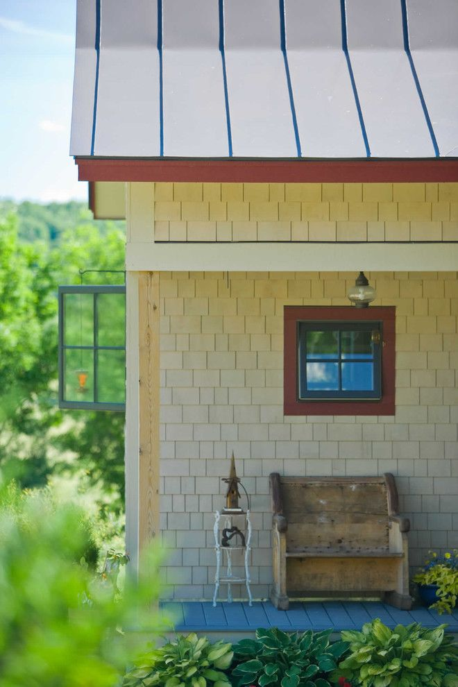 Exterior Color Schemes for a Farmhouse Exterior with a Shingle Siding and Environmentally Friendly by Truexcullins Architecture + Interior Design