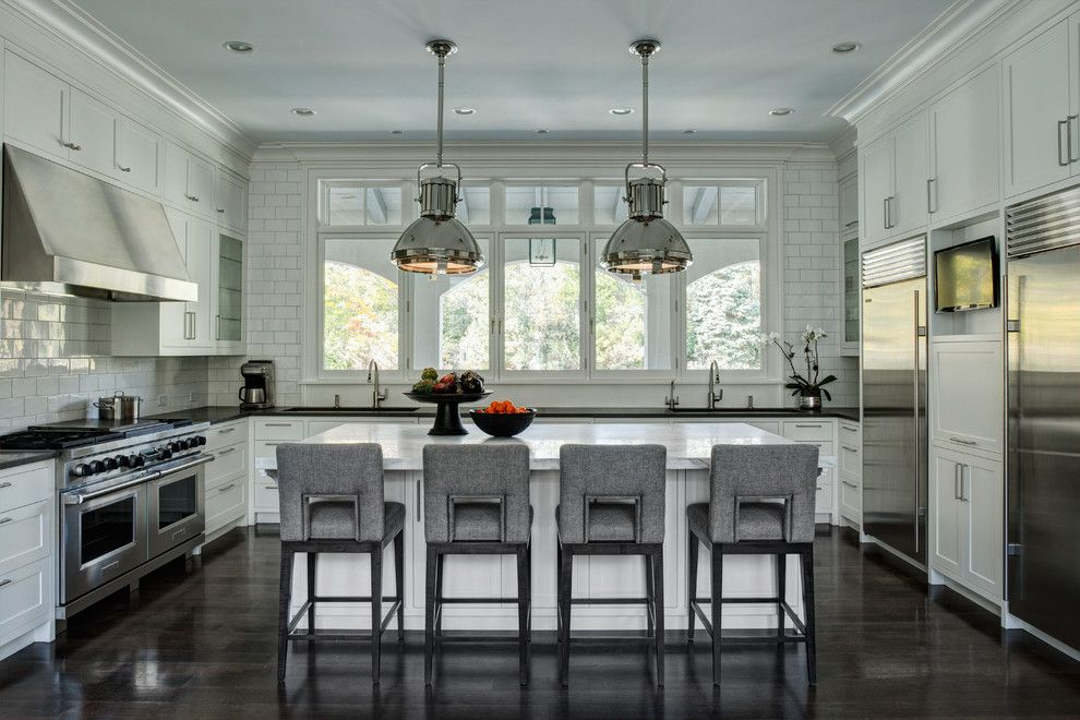 Fairfield Chair for a Traditional Kitchen with a Stainless Steel and a Modern Manor by Fraerman Associates Architecture