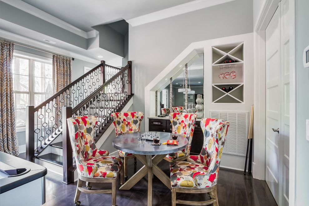 Fairfield Chair for a Transitional Basement with a Gray and Benzinger Terrace   Brentwood, Tn by Eric Ross Interiors, Llc