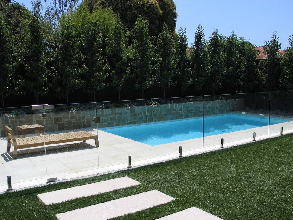 Fairway Lawns for a Contemporary Pool with a Raised Planter Box and Malvern Family Pool by Neptune Swimming Pools