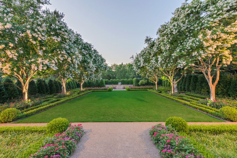 Fairway Lawns for a Traditional Landscape with a Hedge and Private Residence   English Tudor by Harold Leidner Landscape Architects