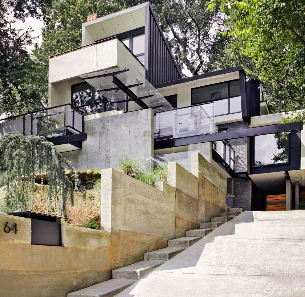 Fallingwater House for a Contemporary Exterior with a Curb Appeal and 64 by Dencity   Mesh