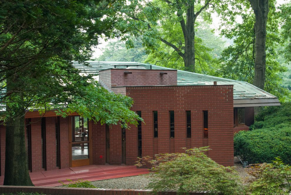 Fallingwater House for a Modern Exterior with a Frank Lloyd Wright and Houzz Tour: An Architectural Relic Thrives in the Heartland of Ohio by Adrienne Derosa