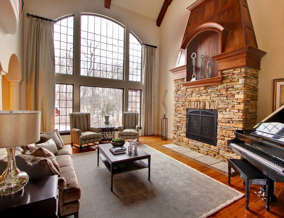 Family Leisure Indianapolis for a Traditional Living Room with a Wood Beams and Avon Residence by Mb Designs, Llc
