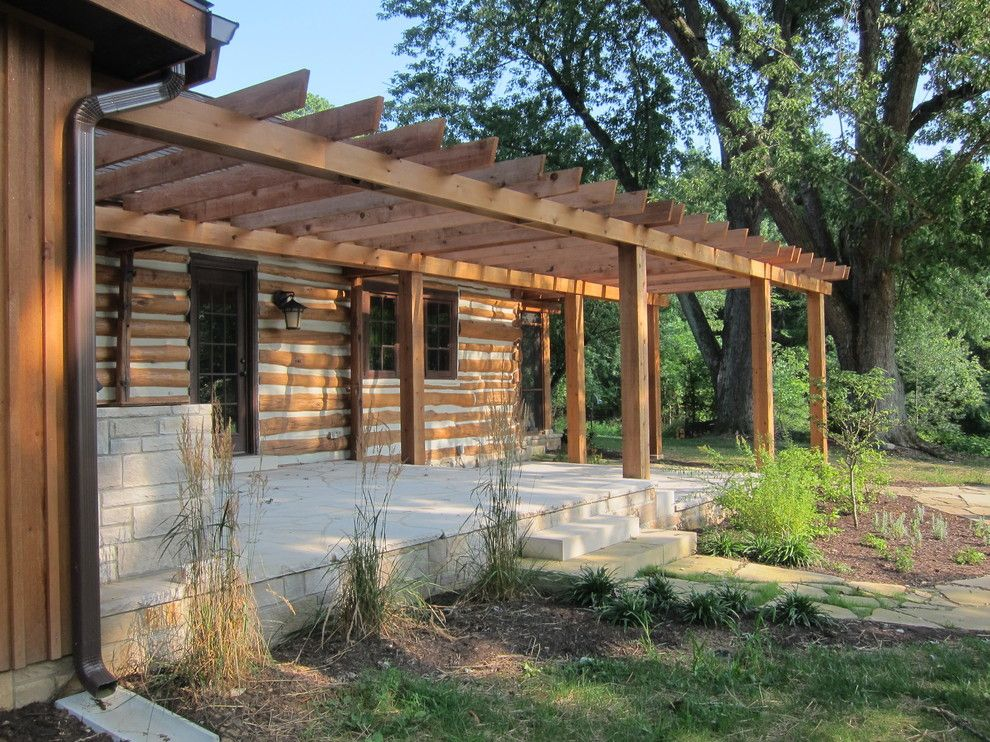 Family Leisure Indianapolis for a Traditional Porch with a Cabin and Bide a Wee by Blue Marble Design, Llc