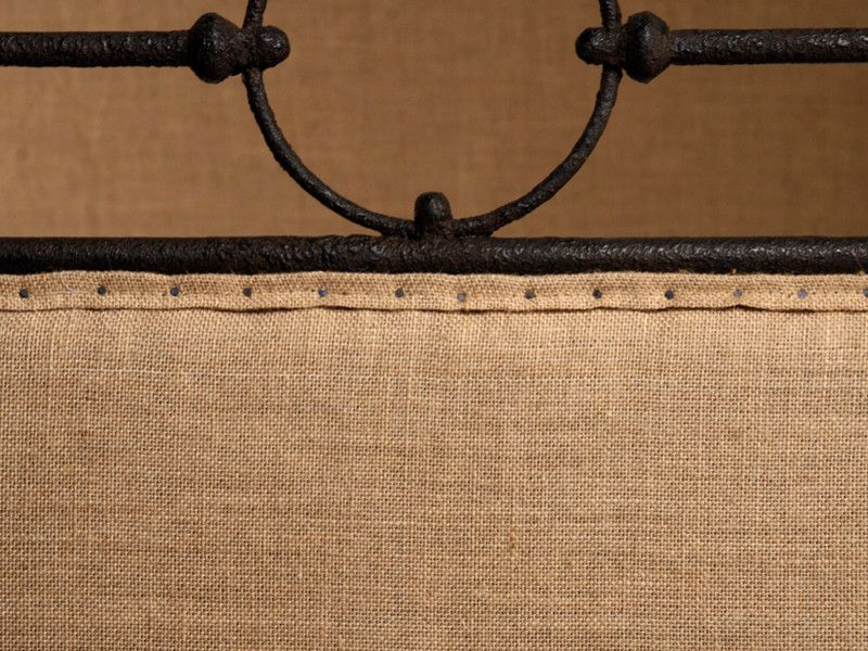 Fansedge Promo Code for a Farmhouse Bedroom with a Farmhouse and Burlap and Iron Detail at Foot and Head Board by Architectural Revival