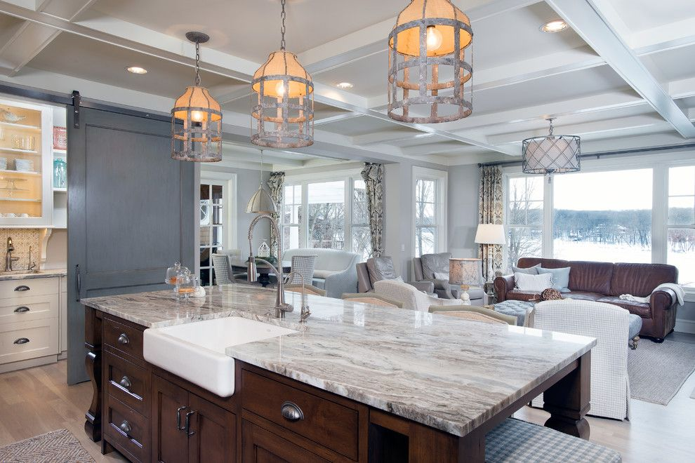 Fantasy Brown Granite for a Transitional Kitchen with a Transitional and Authentic Charm by Mike Schaap Builders