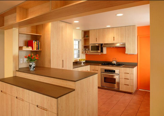 Farmington Valley Equipment for a Traditional Kitchen with a Bamboo and North Valley   Kitchen View 2. by Here Design and Architecture