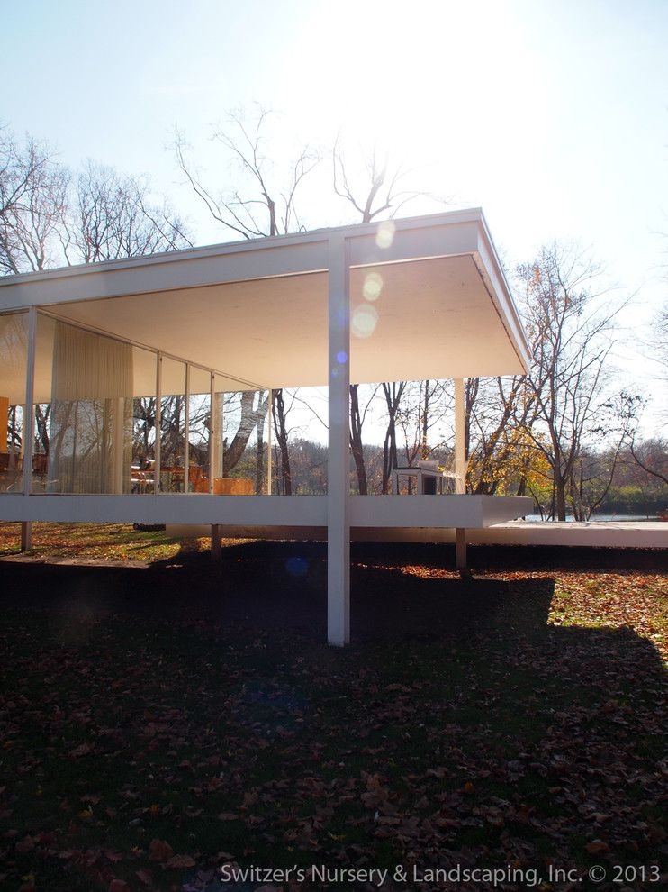 Farnsworth House for a Modern Exterior with a Farnsworth House and Influential Architecture ~ the Edith Farnsworth House by Switzer's Nursery & Landscaping, Inc.