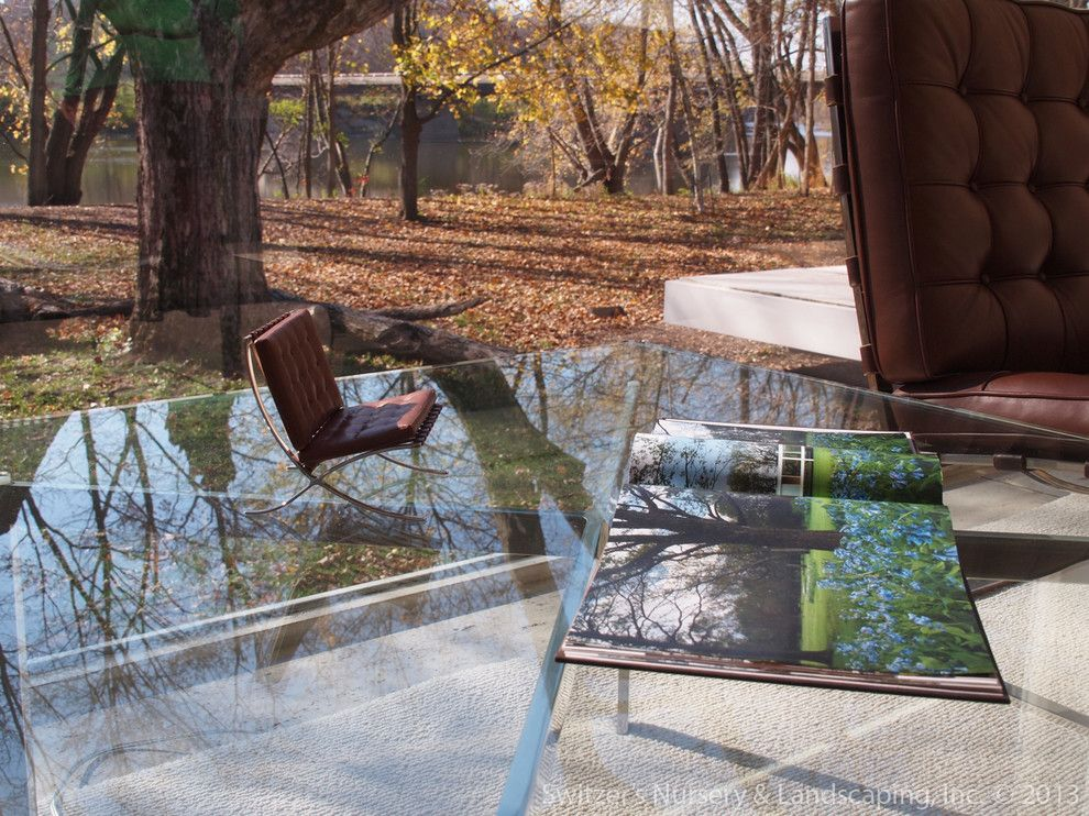 Farnsworth House for a Modern Living Room with a Plano and Influential Architecture ~ the Edith Farnsworth House by Switzer's Nursery & Landscaping, Inc.