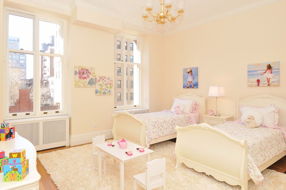 Farrow and Ball Nyc for a Traditional Kids with a Floral Bedding and Nyc Bedrooms by Designed to Appeal by Designed to Appeal