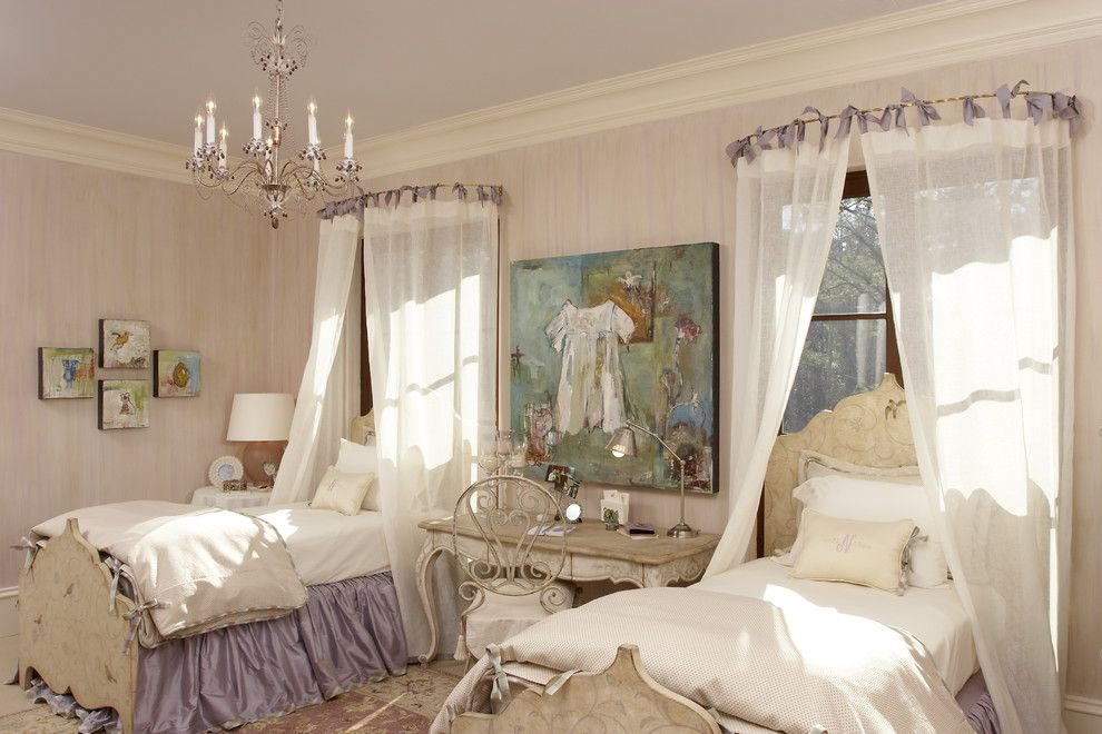 Faux Painting Techniques for a Shabby Chic Style Kids with a Throw Pillows and Girls Bedroom & Bath by Margaret L. Norcott, Allied Asid