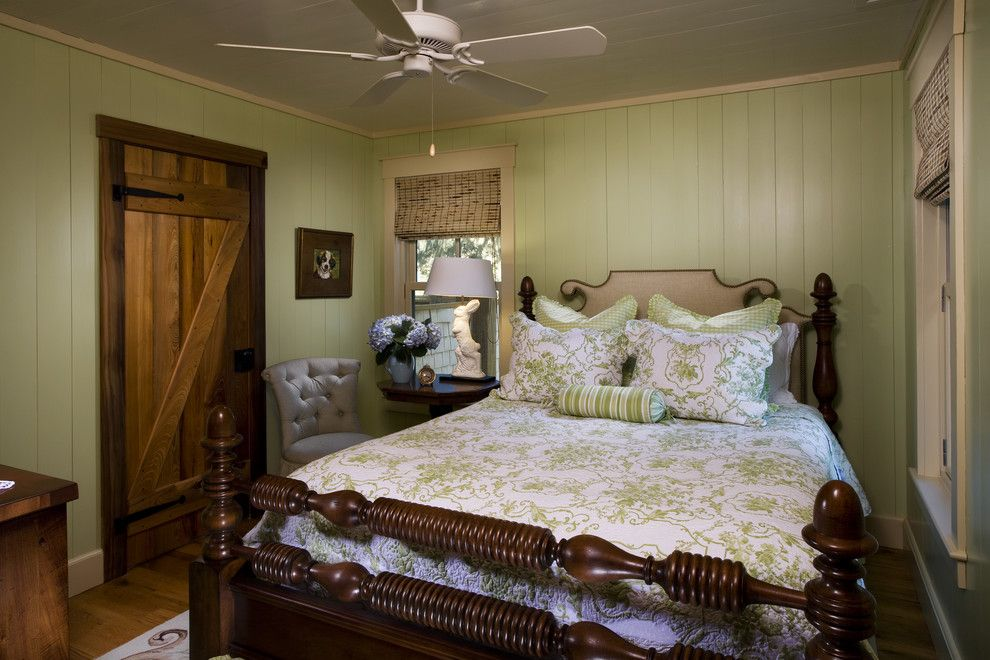 Feather River Doors for a Rustic Bedroom with a White Wood and Stephanie's Cottage by Gerald D. Cowart, Aia, Leed  Ap