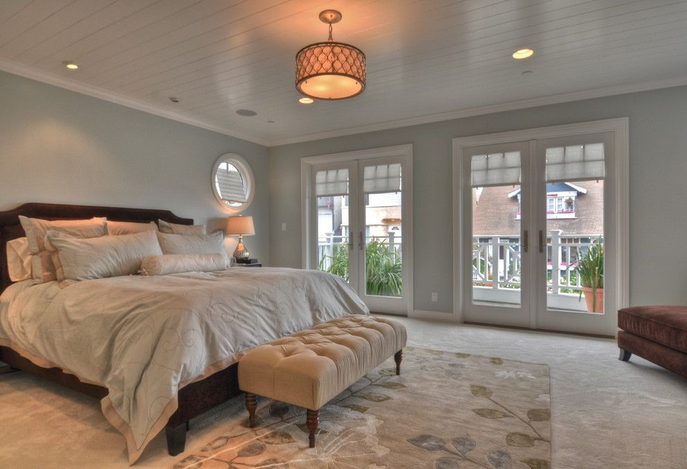 Feiss for a Traditional Bedroom with a Botanical Rug and Freestone Residence by Luann Development, Inc.