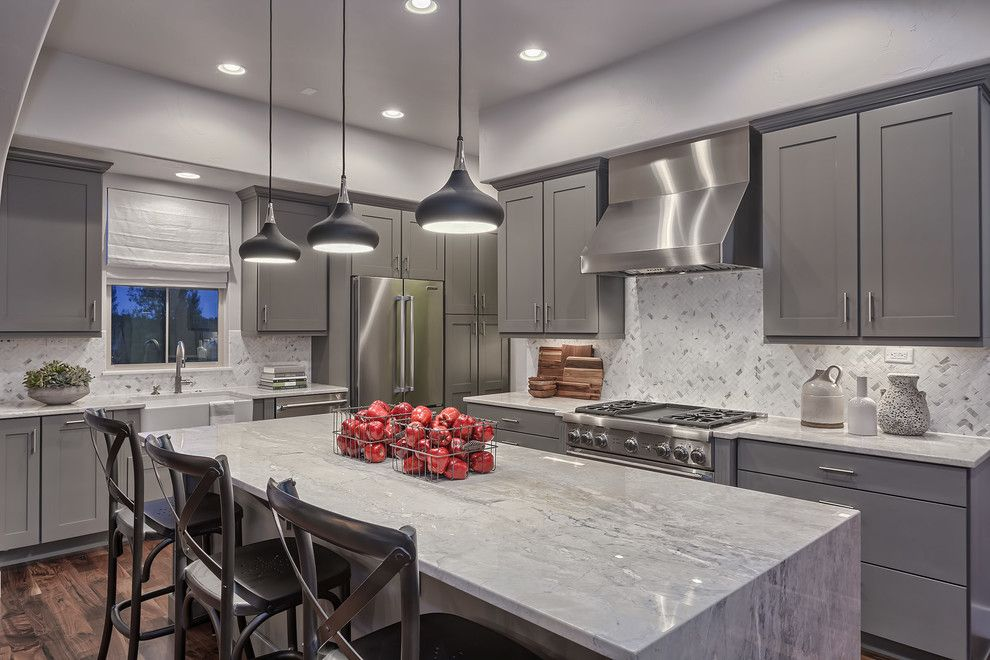 Feiss for a Transitional Kitchen with a Black Pendant Lights and Keller Homes by Housing & Building Association of Colorado Springs