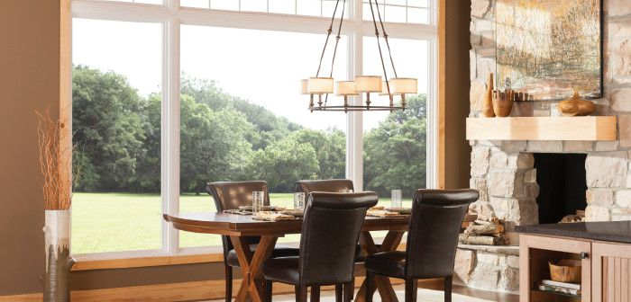 Feldco for a  Spaces with a Window and Dining Room: Picture Window by Feldco Windows, Siding and Doors