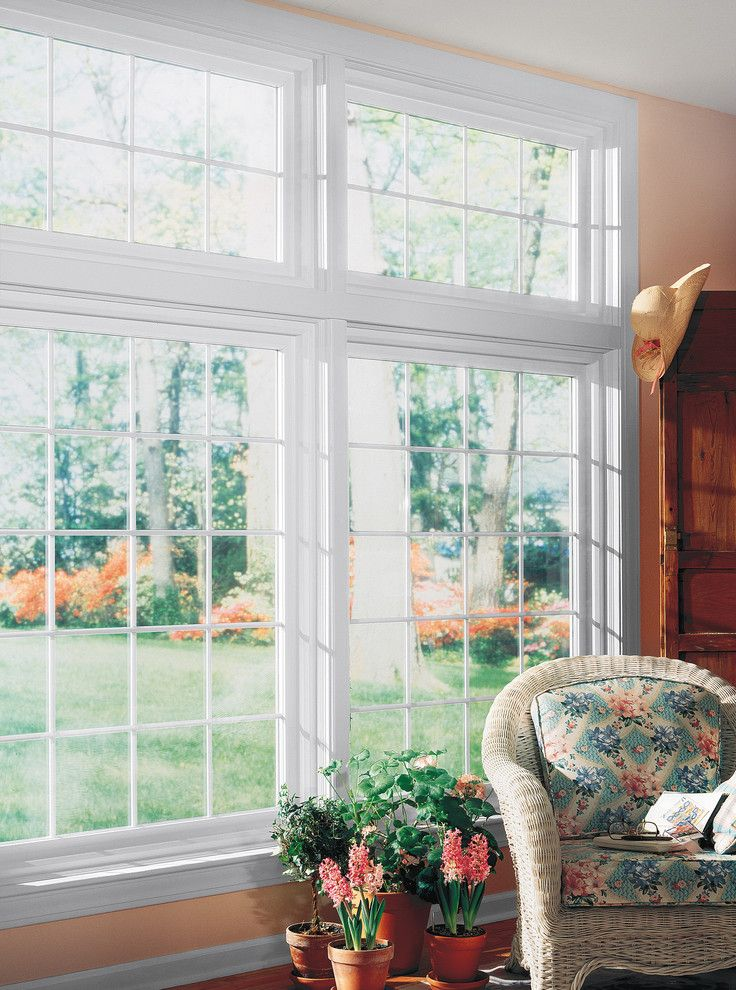 Feldco for a Traditional Spaces with a Energy Efficient and Living Room: Picture Window by Feldco Windows, Siding and Doors