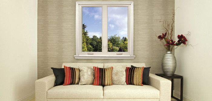 Feldco for a Traditional Spaces with a Window and Living Room: Casement Window by Feldco Windows, Siding and Doors
