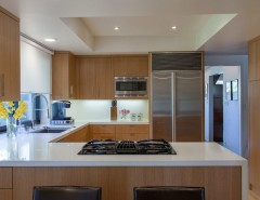 Feng Shui Basics for a Contemporary Kitchen with a Mirror Wall and Art Collector Los Angeles by Janice Sugita - Feng Shui Consultant