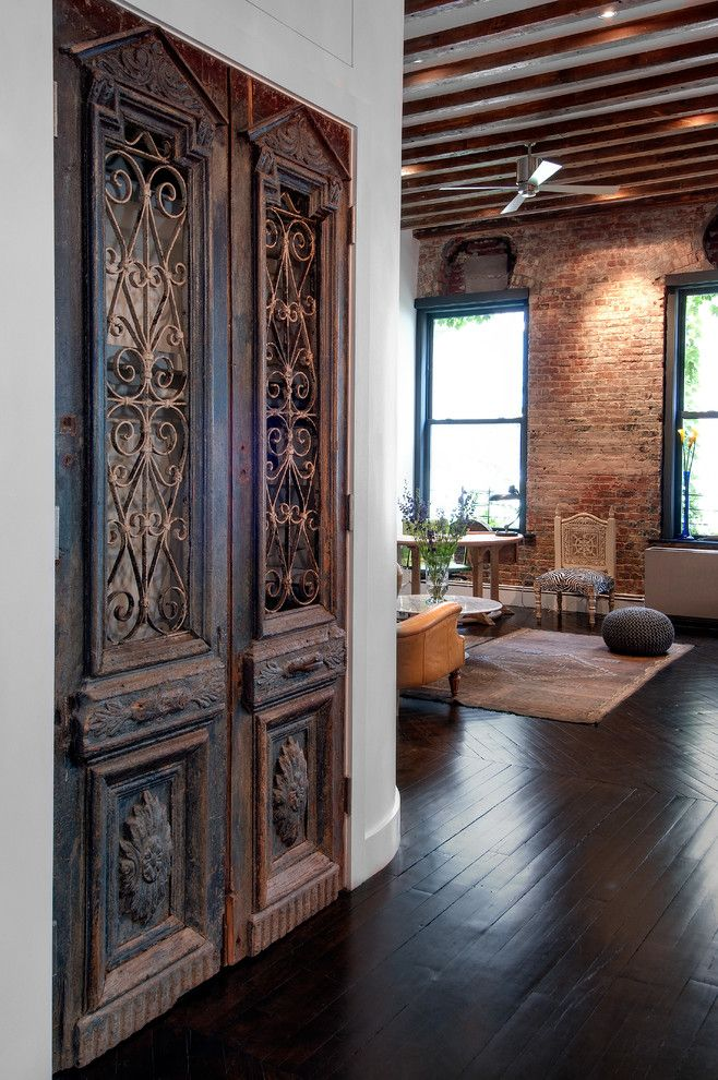 Feng Shui Basics for a Industrial Living Room with a Ornate Doors and Reiko Feng Shui Interior Design   Loft Renovation by Reiko Feng Shui Design