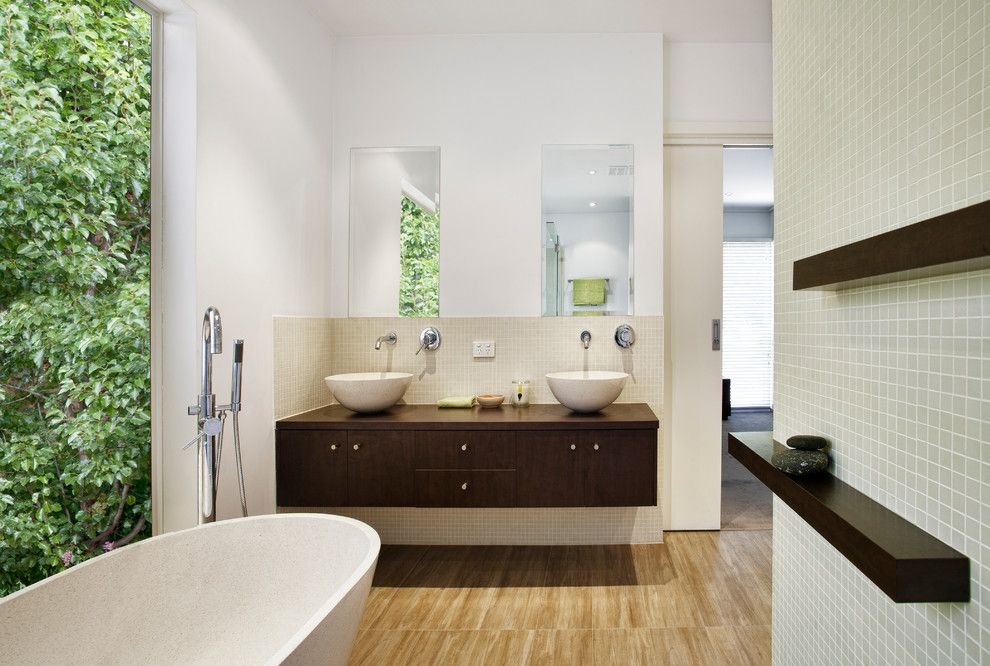 Feng Shui Bed Placement for a Asian Bathroom with a Gia Bathroom Kitchen Renovations and Raw Zen by Gia Bathroom & Kitchen Renovations