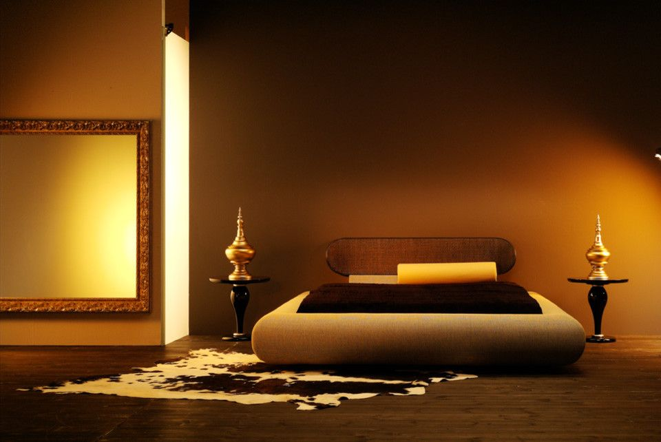Feng Shui Bed Placement for a Asian Bedroom with a Designer Bed and Asian Bedroom by Imagine living.com