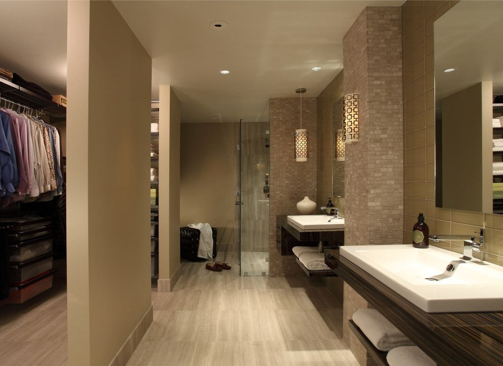 Ferguson Plumbing Locations for a Contemporary Bathroom with a Master Bathroom and Master Bathroom Renovation by Rabaut Design Associates, Inc.