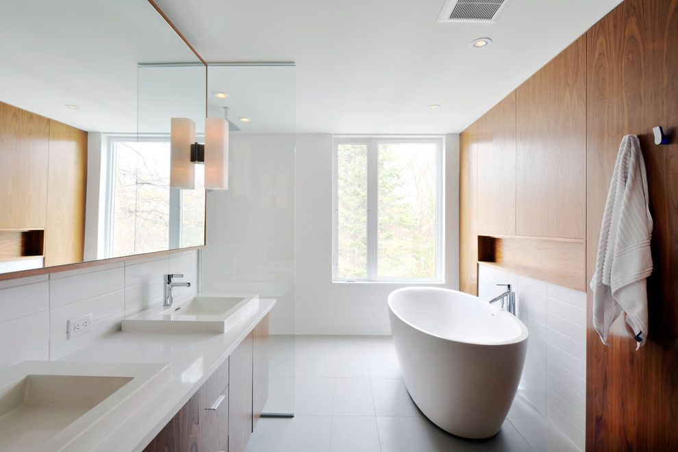 Ferguson Plumbing Locations for a Modern Bathroom with a Bathroom Lighting and Modern Custom Home by Gordon Weima Design Builder